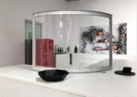 Hygieneschutzwand gebogen 120 x 60 cm