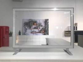 Hygieneschutzwand gerade 120 x 60 cm