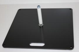 Beachflag Zubehör Bodenplatte 50x50 cm, 15 kg